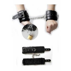Menottes LEATHER AND PLUSH HANDCUFFS