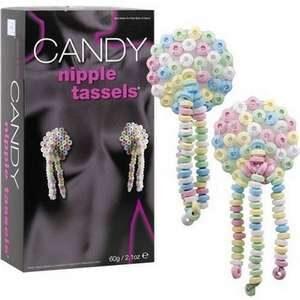 Pendentifs pour Seins Candy Comestible