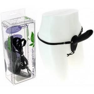 Gode ceinture en latex 13 cm Noir