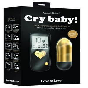 Oeuf télécommandé Cry Baby noir et doré