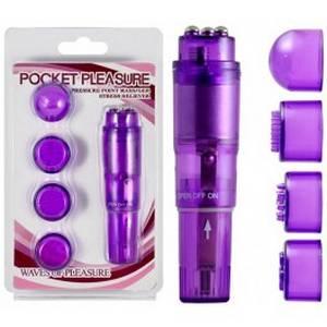 Stimulateur vibrant Pocket Pleasure pourpre