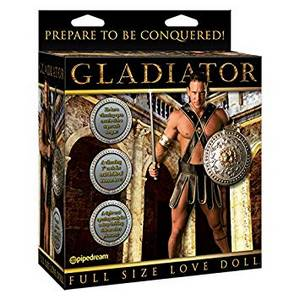 Poupée Gonflable homme Gladiator vibrante