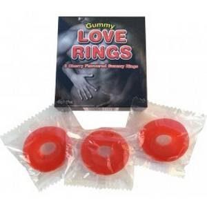 3 Anneaux comestibles Gummy Love Rings