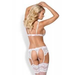 Ensemble de lingerie blanc 3 pièces