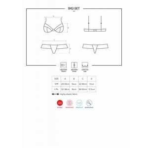 842-SET-5 ensemble de lingerie 2 pièces noir