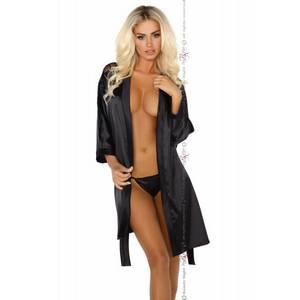 Alexandra dressing gown black