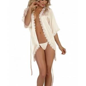 Déshabillé Shannon dressing gown blanc