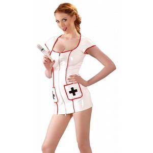 Tenue Blanche en Vinyle Look Infirmière