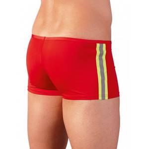 Short Rouge avec Zip Effet Push-Up